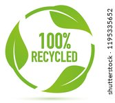 recycle symbol with green leaves | Shutterstock .eps vector #1195335652