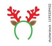mask with reindeer antler... | Shutterstock .eps vector #1195339432