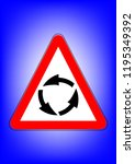 traffic sign  attention... | Shutterstock .eps vector #1195349392