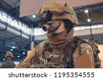 mannequin in military gear with ... | Shutterstock . vector #1195354555