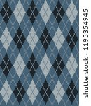 seamless knitted pattern with... | Shutterstock .eps vector #1195354945