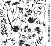 Herbarium Monochrome Seamless...