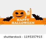 happy halloween october 31st.... | Shutterstock .eps vector #1195357915