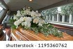 closeup shot of a funeral... | Shutterstock . vector #1195360762