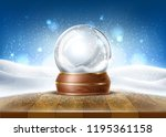 vector christmas snowglobe on...