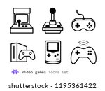 video gaming and game consoles... | Shutterstock .eps vector #1195361422