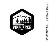 pines tree logo sample  vector... | Shutterstock .eps vector #1195361518