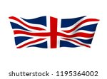 waving flag of the great... | Shutterstock . vector #1195364002