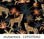seamless vector tropical marine ... | Shutterstock .eps vector #1195370362