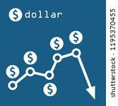 dollar chart drop | Shutterstock .eps vector #1195370455