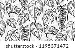 black and white hand drawn...   Shutterstock . vector #1195371472