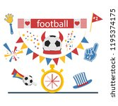 football concept attributes of... | Shutterstock .eps vector #1195374175