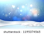 vector christmas  new year... | Shutterstock .eps vector #1195374565