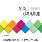 mosaic 3d paper cut out...   Shutterstock .eps vector #1195374982