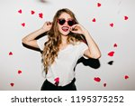 sensual young woman in funny... | Shutterstock . vector #1195375252