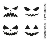 halloween pumpkin faces icon... | Shutterstock .eps vector #1195380322