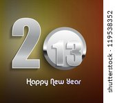 new year 2013 shiny stylish...   Shutterstock .eps vector #119538352