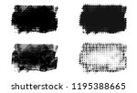 set of brush stroke and... | Shutterstock . vector #1195388665