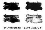 set of brush stroke and... | Shutterstock . vector #1195388725