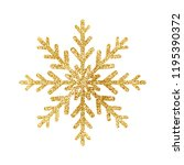 gold glitter texture snowflake... | Shutterstock .eps vector #1195390372