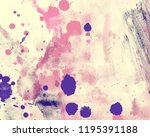watercolor painting on paper.... | Shutterstock . vector #1195391188