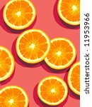 orange slices on pink background