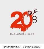 halloween sale. vector template ... | Shutterstock .eps vector #1195413508
