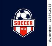 soccer est 2018 sports | Shutterstock .eps vector #1195416388