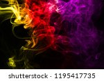 multicolour smoke on black... | Shutterstock . vector #1195417735
