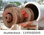 natural gas pig or piping... | Shutterstock . vector #1195430545