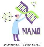 nano engineering. human dna... | Shutterstock .eps vector #1195453768