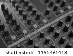 mixers mixing console audio...   Shutterstock . vector #1195461418