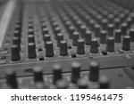 mixers mixing console audio...   Shutterstock . vector #1195461475