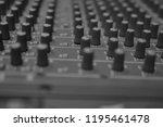 mixers mixing console audio...   Shutterstock . vector #1195461478