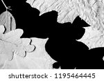 dry autumn leaves as a... | Shutterstock . vector #1195464445