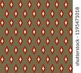 retro colors christmas pattern. ... | Shutterstock .eps vector #1195471018