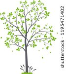 beautiful tree branch with... | Shutterstock . vector #1195471402
