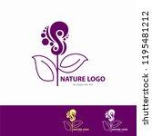 nature logo template   Shutterstock .eps vector #1195481212