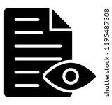 eye over paper sheet showing... | Shutterstock .eps vector #1195487308