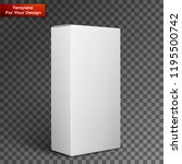 white product package box | Shutterstock .eps vector #1195500742