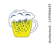 mug of beer icon. thin line... | Shutterstock .eps vector #1195506655