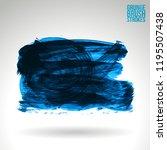 blue brush stroke and texture.... | Shutterstock .eps vector #1195507438