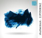 blue brush stroke and texture.... | Shutterstock .eps vector #1195508362