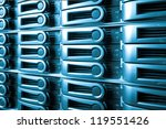 detail of data center with hard ... | Shutterstock . vector #119551426