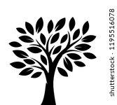 silhouette tree illustration | Shutterstock .eps vector #1195516078