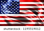 realistic flag of america on... | Shutterstock . vector #1195519012