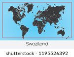 an illustrated country shape of ... | Shutterstock .eps vector #1195526392