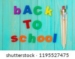 sentence back to school with a... | Shutterstock . vector #1195527475