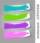 set of color stickers with... | Shutterstock . vector #119553328