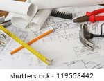 heap of design and project... | Shutterstock . vector #119553442